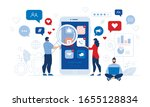 people and comprehensive mobile ... | Shutterstock .eps vector #1655128834