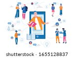 online education and graduation.... | Shutterstock .eps vector #1655128837