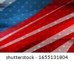 usa colors  stars and stripes... | Shutterstock .eps vector #1655131804