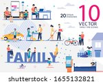 happy family life  parenthood... | Shutterstock .eps vector #1655132821
