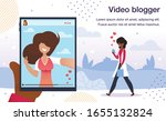 video blogger live stream ... | Shutterstock .eps vector #1655132824