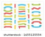 ribbon template banner vector... | Shutterstock .eps vector #1655135554