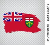 flag of ontario brush strokes....
