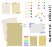 note paper and pin . vector eps ... | Shutterstock .eps vector #165516884