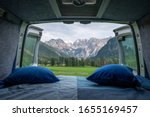 View From Bed In Camper Van To...