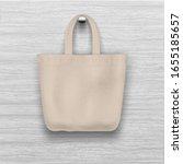 textile textured biege tote bag ... | Shutterstock .eps vector #1655185657