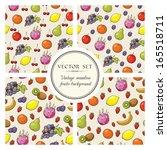 vector set of seamless patterns ... | Shutterstock .eps vector #165518711