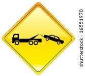 warning tow away zone sign  ... | Shutterstock .eps vector #16551970