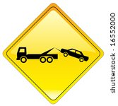warning tow away zone sign | Shutterstock . vector #16552000