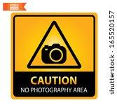 vector  caution no photography... | Shutterstock .eps vector #165520157