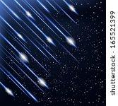 star rain . vector illustration. | Shutterstock .eps vector #165521399