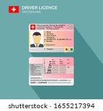 swiss car driver license... | Shutterstock .eps vector #1655217394