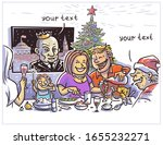 new year's family holiday at...   Shutterstock . vector #1655232271