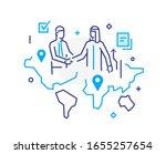 businessmen shake hands with... | Shutterstock .eps vector #1655257654
