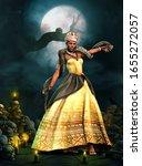 Beautiful Voodoo Queen With A...