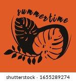vector illustration on tropical ... | Shutterstock .eps vector #1655289274