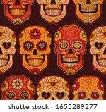 mexican calavera skulls... | Shutterstock .eps vector #1655289277