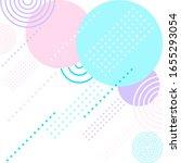 graphic pastel color geometric... | Shutterstock .eps vector #1655293054
