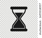hourglass icon in flat style....   Shutterstock .eps vector #1655318557