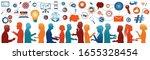 sharing ideas.network teamwork... | Shutterstock . vector #1655328454