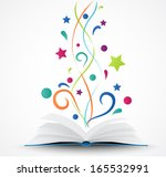 book opened .abstract with... | Shutterstock . vector #165532991