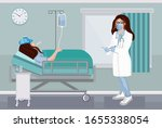 female physician examining... | Shutterstock .eps vector #1655338054