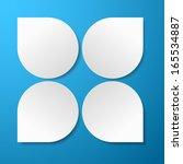 abstract 3d vector paper... | Shutterstock .eps vector #165534887