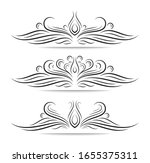 vintage ornate frame elements.... | Shutterstock .eps vector #1655375311