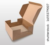 recyclable paper box with a lid ... | Shutterstock .eps vector #1655379007