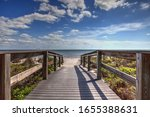 Boardwalk Leading To Lighthouse ...