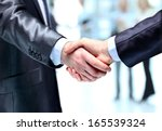 the businessman. hand for a... | Shutterstock . vector #165539324