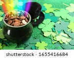 Pot With Gold Coins  Hat And...