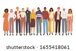 diverse multiracial and... | Shutterstock .eps vector #1655418061