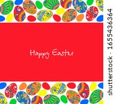 bright easter card with... | Shutterstock .eps vector #1655436364