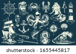 vintage maritime and nautical... | Shutterstock . vector #1655445817