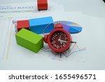 failed plan. bar graphs and... | Shutterstock . vector #1655496571