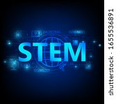 stem education  consisting of ... | Shutterstock .eps vector #1655536891