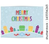 abstract merry christmas card... | Shutterstock .eps vector #165556265