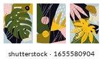 set of 3 mid century modern art ... | Shutterstock .eps vector #1655580904