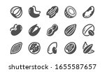 nuts and seeds icons. hazelnut  ... | Shutterstock . vector #1655587657