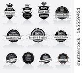 vector labels set. | Shutterstock .eps vector #165559421
