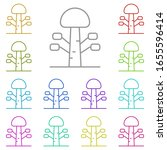 tree multi color icon. simple...