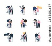 collection of mothers  fathers...   Shutterstock .eps vector #1655601697