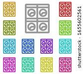 laundry room multi color icon....