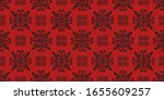 christmas drawing with... | Shutterstock .eps vector #1655609257