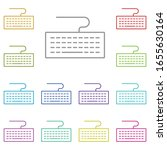 hardware  keyboard multi color...