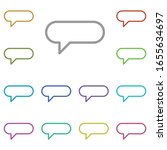 bubble  chat multi color icon....