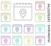 calendar  location multi color...