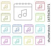 calendar  note  melody multi...