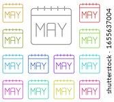 calendar  may multi color icon. ...